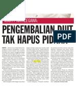 an Uang Tak Hapus Pidana - Koran Tempo, 20 Februari 2010