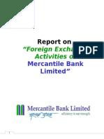 Foreign Exchange Activities of Merchantile Bank Ltd