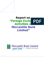 Foreign Exchange Activities of Merchantile Bank Ltd