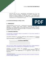 Modelo de Solicitud de Arbitraje 1