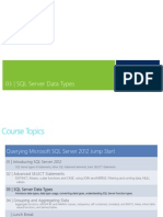 03 - SQL Server Data Types and Functions