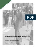 Jaarboek Opleiding Culturele en Maatschappelijke Vorming - HAN 2007-2008