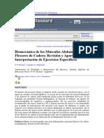 Biomecanica de Los Musculos Abdominales y Flexores de Cadera . Revision y Apotes Para La Interpretacion de Ejercicios Especificos