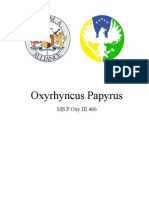 Oxyrhyncus Papyrus Edit