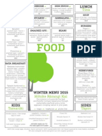 2015 Winter Menu