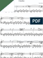 Maksim Claudine Piano Sheet