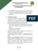 TERMOQUIMICA INF. 03 DEMOSTRACION DE LAS LEYES DE LA TERMODINAMICA.pdf