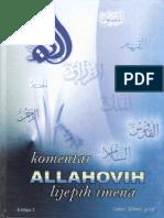 Komentar Allahovih Lijepih Imena-1