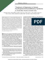 Escitalopram Treatment of Depression in HIV and AIDS