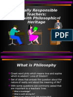 Lesson 1 the Teacher Rich With Philosophical Heritage