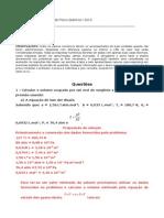 Avaliação de Físico-química 1 - Substitutiva