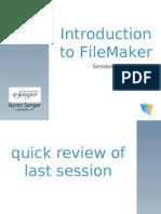 FileMaker 102