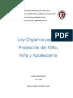 Ley Orgánica Para La Protección Del Niño, Niña y Adolescente Angel