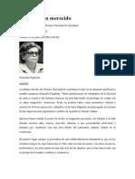 Jorge Luis Arcos, Un Galardón Merecido