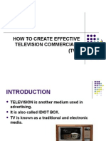 HOW to Create Effective Tvcs
