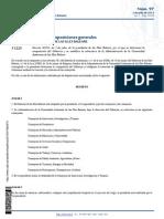 Decreto 8/2015, de 2 de julio, de la presidenta de las Illes Balears, por el que se determina la composición del Gobierno y se establece la estructura de la Administración de la Comunidad Autónoma de las Illes Balears