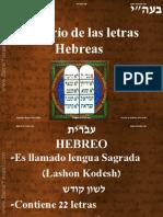 Misterio de La Letras Hebreo