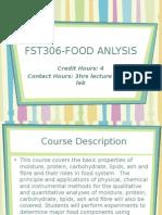Fst306 Course Information