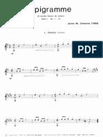 ZENAMON J. M. - Epigramme_20 Easy Pieces for Guitar (Chitarra)