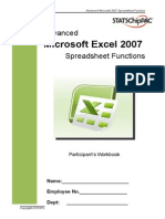 Advanced Excel 2007 Participant's Workbook