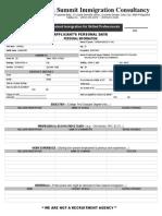 Evaluation Form for Skilled Professionals
