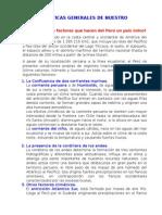 Caracteristicas del Territorio Peruano