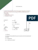 Guía de Ejercicios de Calculo de Alargamientos en Cables