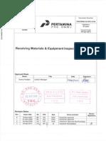 Receiving Materials & Equipment Inspect