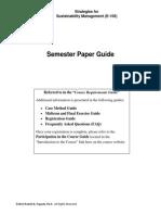Semester Paper Guide