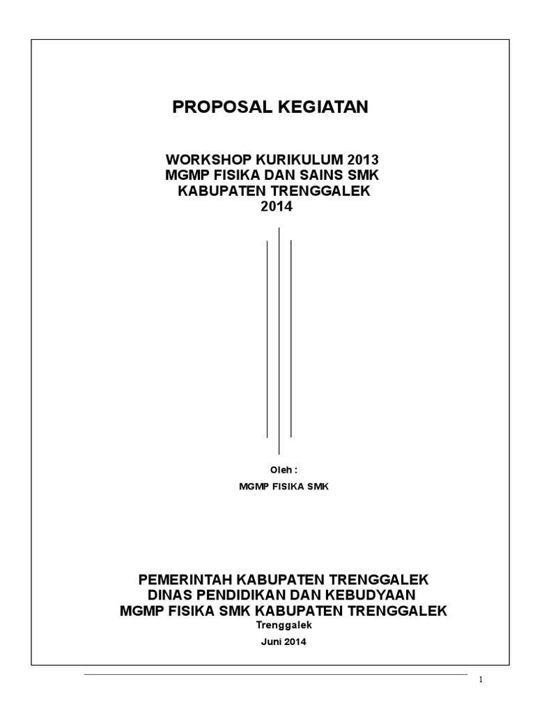 Proposal Workshop Kurikulum 2013 Doc Ilmusosial Id