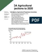 USDA Proyecciones de La Agricultura a 2020