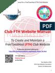 Toastmaster Clubs FreeToastHost (FTH) Website Manual