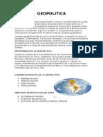 GEOPOLITICAA y GeoestrategiaA