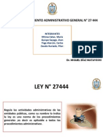 Ley de Procedimiento Administrativo N! 27444