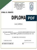 Diploma Alumnos Julio 2012 de 1o a 5o