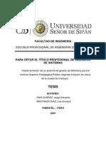 Implementación de un sistema de gestión de biblioteca (resumen)