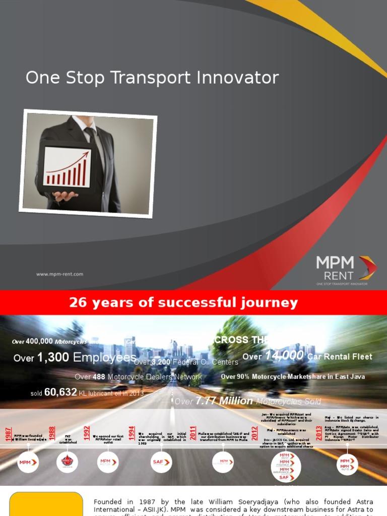 Presentation Mpm Rent R1 Nissan Honda Per Standart 1 Motor All