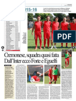 La Provincia Di Cremona 13-07-2015 - Calcio Lega Pro
