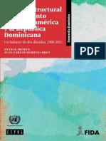 Cambio Estructural y Crecimiento en Centro America y La Republica Dominicana