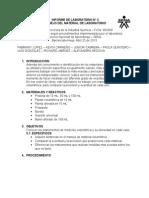Informe de Laboratorio de química. Instrumentos de laboratorio