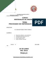 Procesado de Materiales Metálicos