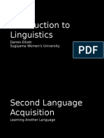 Second Language Acquisition 2015