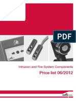Cooper Intrussion and Fire System Component Pricelist 2012