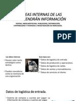 5.2 ÁREAS INTERNAS DE LAS QUE OBTENDRÁN INFORMACIÓN