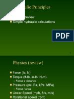 Hydraulic Principles