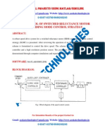 SPEED CONTROL OF SWITCHED RELUCTANCE MOTOR USING SLIDING MODE CONTROL STRATEGY