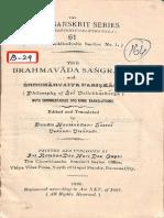Brahmavaada Sangraha 1929 - Kashi Sanskrit Series.pdf