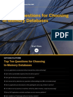 Top 10 Questions for Choosing in-Memory Databases