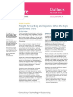 Accenture Outlook Freight Forwarding and Logistics What High Performers Know
