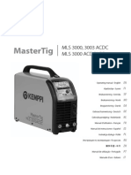 Mastertig MLS 3003 ACDC Operating Manual